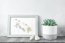 Load image into Gallery viewer, Hawaii State Map Art Print