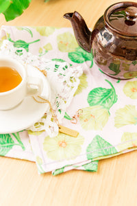 Hibiscus Tea Towel