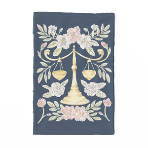 Libra Sign Tea Towel