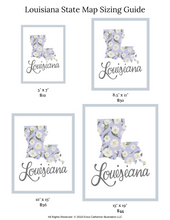 Load image into Gallery viewer, Louisiana State Map Illustration Art Print