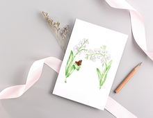 Load image into Gallery viewer, Letter M Floral Initial Folded Card