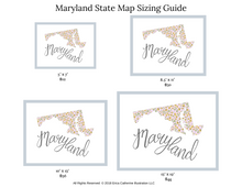 Load image into Gallery viewer, Maryland State Map Art Print