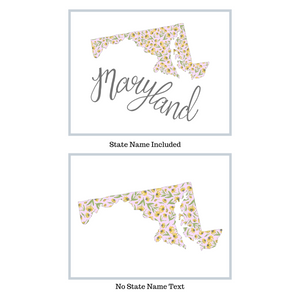 Maryland State Map Art Print
