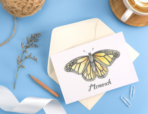 Monarch Butterfly Folded Card