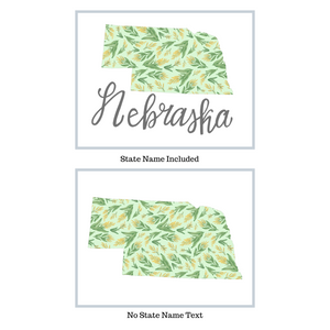 Nebraska State Map Art Print