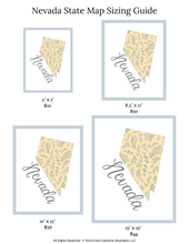 Load image into Gallery viewer, Nevada State Map Art Print