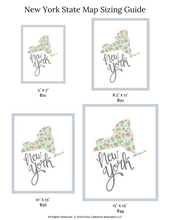 Load image into Gallery viewer, New York State Map Art Print