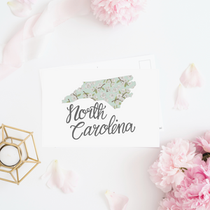 North Carolina State Map Postcard