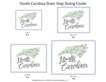Load image into Gallery viewer, North Carolina State Map Art Print