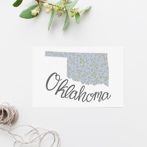 Oklahoma State Map Postcard