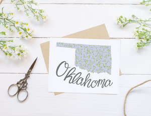 Oklahoma State Map Folded Card