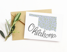 Load image into Gallery viewer, Oklahoma State Map Folded Card