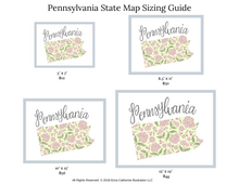 Load image into Gallery viewer, Pennsylvania State Map Art Print