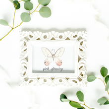 Load image into Gallery viewer, Pink Glasswing Butterfly Art Print