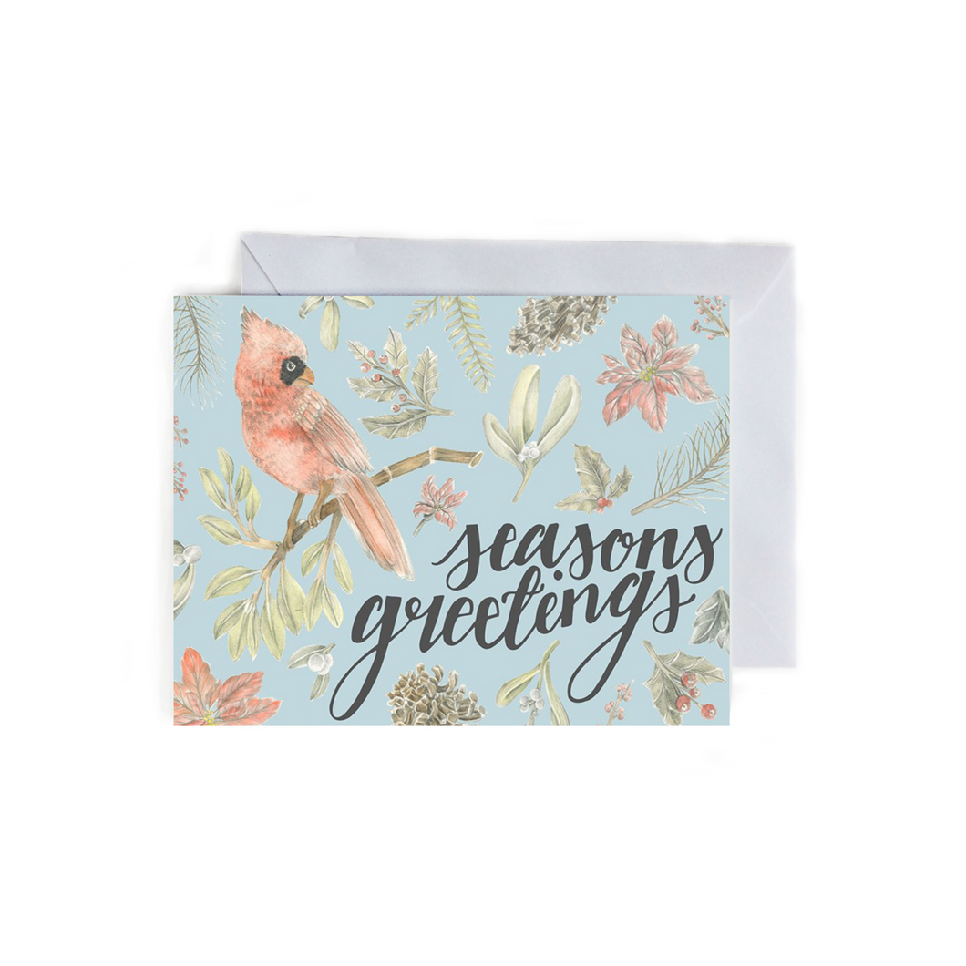 Seasons Greetings Folded Card