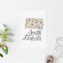 Load image into Gallery viewer, South Dakota State Map Postcard