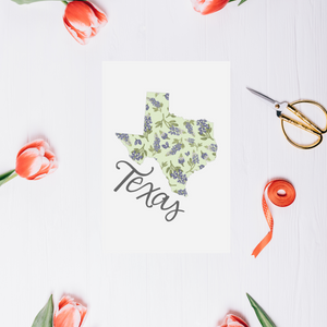 Texas State Map Post Card