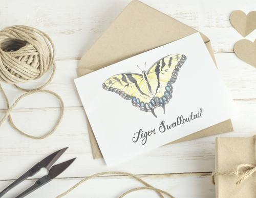 Tiger Swallowtail Butterfly Folded Card