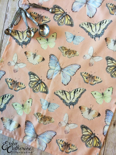Butterfly Pattern Tea Towel