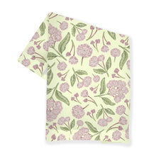 Load image into Gallery viewer, Mountain Laurel Illustration Patterned Tea Towel -  Pennsylvania state flower - Connecticut state flower
