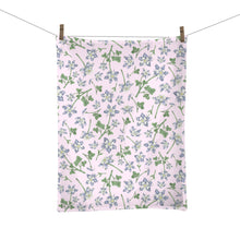 Load image into Gallery viewer, Blue Columbine Flower Illustrated Tea Towel- Colorado State Flower
