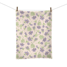 Load image into Gallery viewer, Pasque Flower Tea Towel