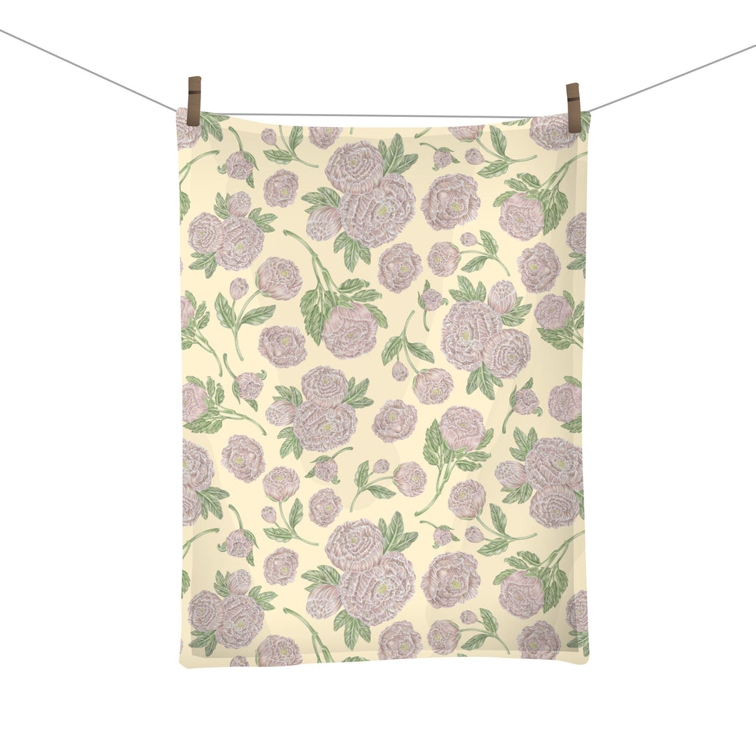 Peonies Tea Towel