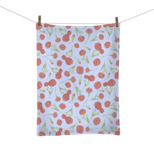 Load image into Gallery viewer, Scarlet Carnation Tea Towel