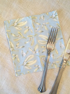 Mistletoe winter Napkins -  holiday cocktail napkins