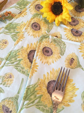 Load image into Gallery viewer, Sunflower pattern place mats - Thanksgiving decor and table linens
