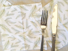 Load image into Gallery viewer, Christmas Fern Napkins - Holiday Cocktail Napkins