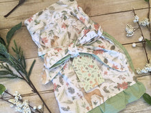 Load image into Gallery viewer, Woodland Winter - Vintage style half apron