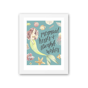 Mermaid Kisses and Starfish Wishes Art Print