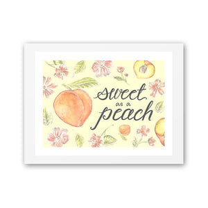 Sweet as a Peach Art Print