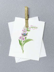 Letter F Initial Folded Card