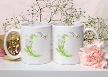 Load image into Gallery viewer, Letter C Floral Monogram Mug