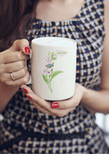 Load image into Gallery viewer, Letter F Floral Monogram Mug