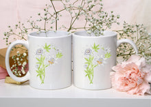 Load image into Gallery viewer, Letter P Floral Monogram Mug