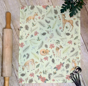 Winter Woodland Tea Towel