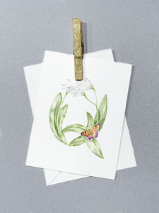 Letter Q Initial Folded Card