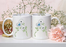 Load image into Gallery viewer, Letter A Floral Monogram Mug