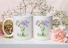 Load image into Gallery viewer, Letter I Floral Monogram Mug