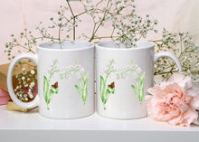 Load image into Gallery viewer, Letter M Floral Monogram Mug