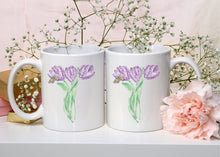 Load image into Gallery viewer, Letter T Monogram Mug - Floral Illustrated Mugs - Beautiful Bridesmaid Gift