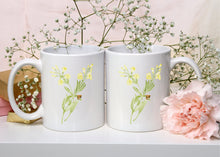 Load image into Gallery viewer, Letter Y Monogram Mug - Floral Illustrated Mugs - Beautiful Bridesmaid Gift