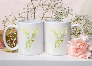 Letter Y Monogram Mug - Floral Illustrated Mugs - Beautiful Bridesmaid Gift