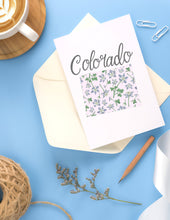 Load image into Gallery viewer, Colorado State Map Folded Card