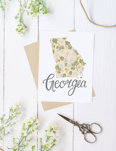 Georgia State Map Folded Card