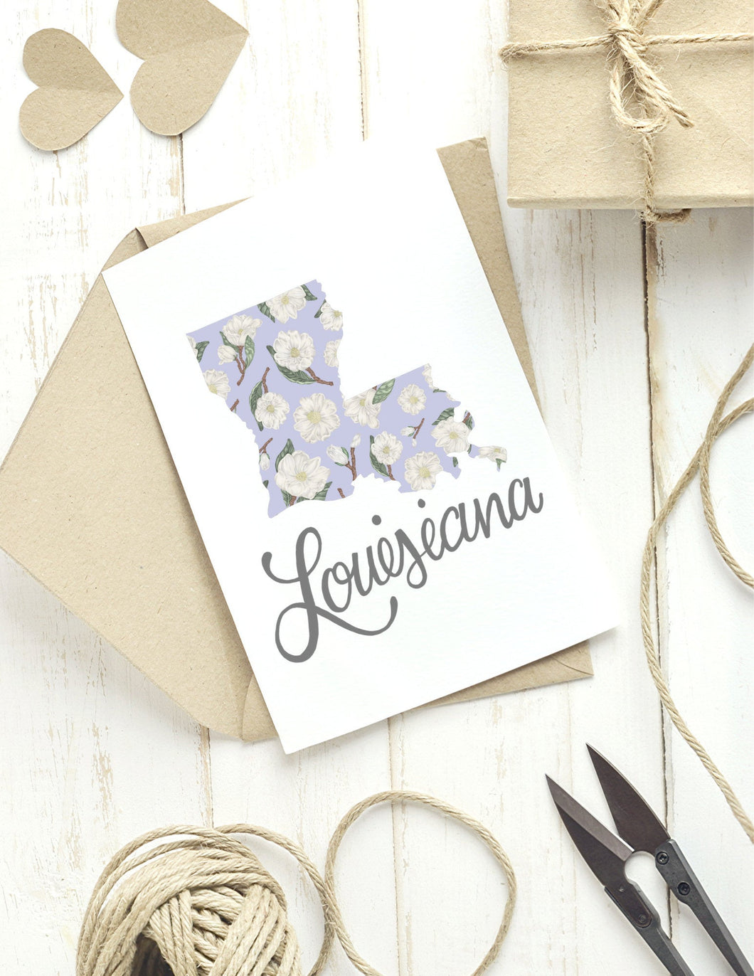 Louisiana State Map Folded Card