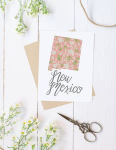 New Mexico State Map Foleded Card